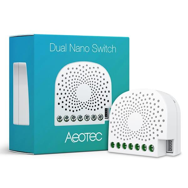 Aeotec Dual Nano Switch Energie ZW140