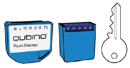 Qubino Mini Dimmer ZMNHHD1 vs Normale
